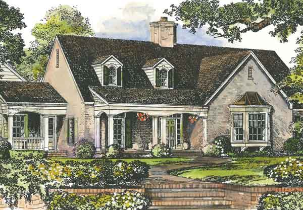 Peachtree cottage john tee architect southern living for Southern living cottage floor plans