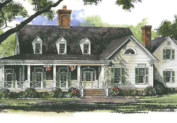 Lanier farmhouse john tee architect southern living for Southern farmhouse