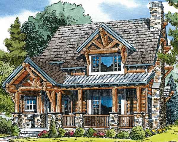 Mountain laurel ken pieper and associates llc southern for Mountain log home plans