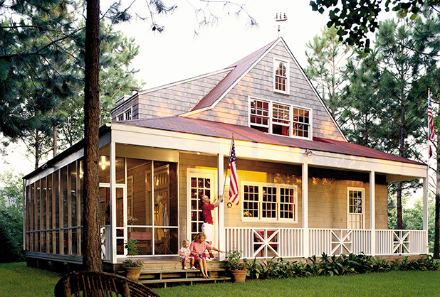 Nautical cottage scott ziegler print coastal living for Coastal living house plans
