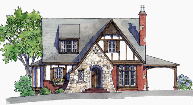 Honeymoon cottage mitchell ginn southern living house for English tudor cottage house plans