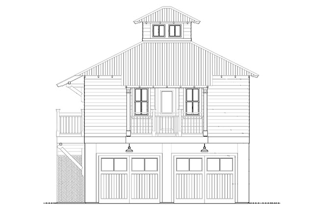 Bayou bend carriage house southern living house plans for Southern living detached garage plans