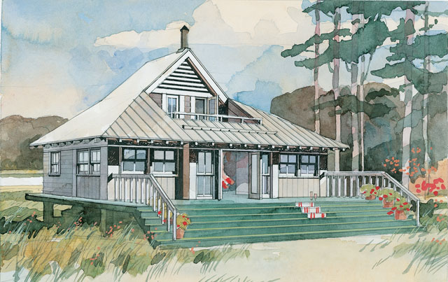 Beach Bungalow Print Coastal Living House Plans