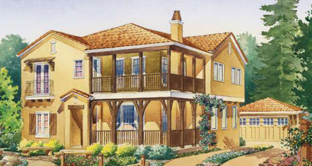 2002 sunset idea house southern living house plans for Sunset house plans