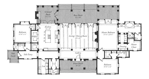 Classic revival house print southern living house plans Classic home floor plans