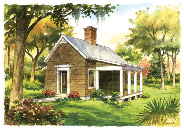 Garden cottage southern living house plans for Backyard cottage plans