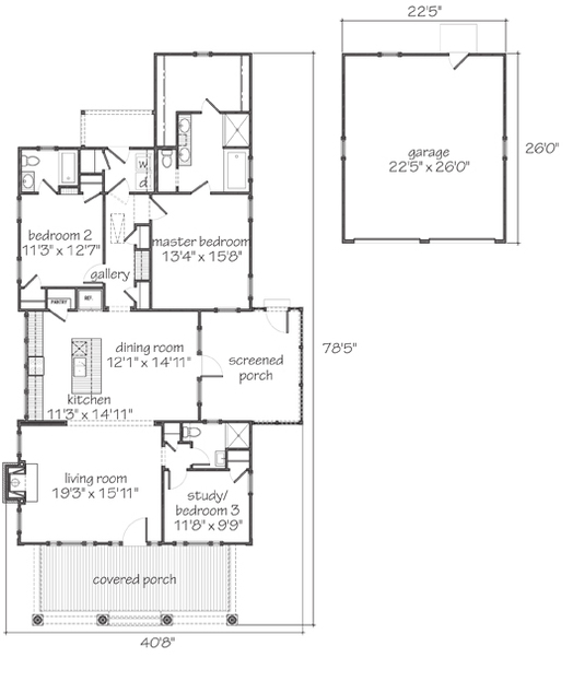 Sparta ii print southern living house plans - Floor plans southern living set ...