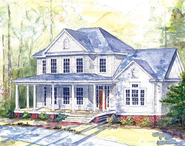 Highland farm southern living house plans for Southern farmhouse