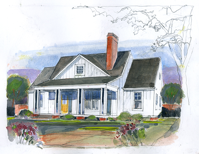 Magnolia cottage southern living house plans for Southern living cottage floor plans