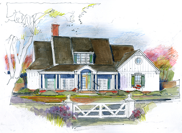 Southern living house plans galley house plans for Southern living house plans with keeping rooms