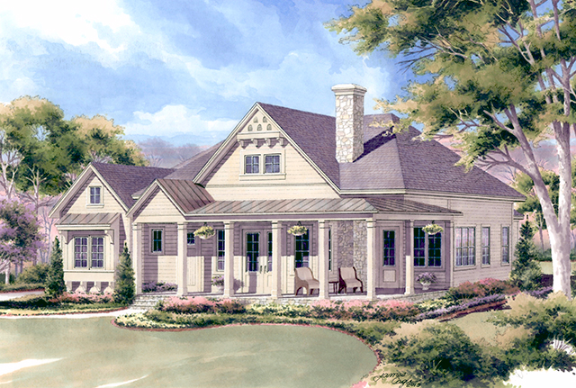 Southern living lakeside cottage house plan joy studio for Southern living cottage floor plans