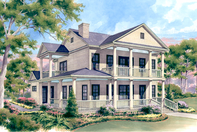 Southern Living House Plans Narrow Lot Design
