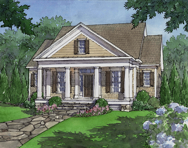 Dewy rose southern living house plans for Southern living cottage floor plans
