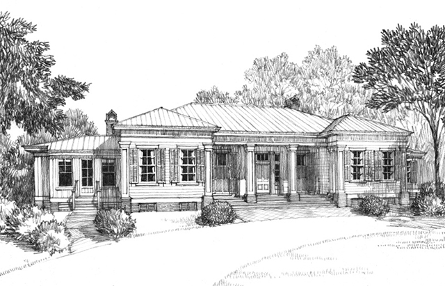 Classic revival house southern living house plans for Old southern house plans