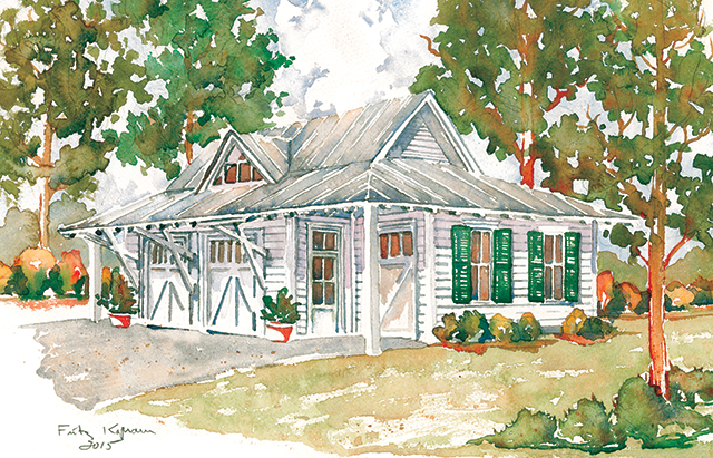 Tideland haven garage southern living house plans for Southern living detached garage plans