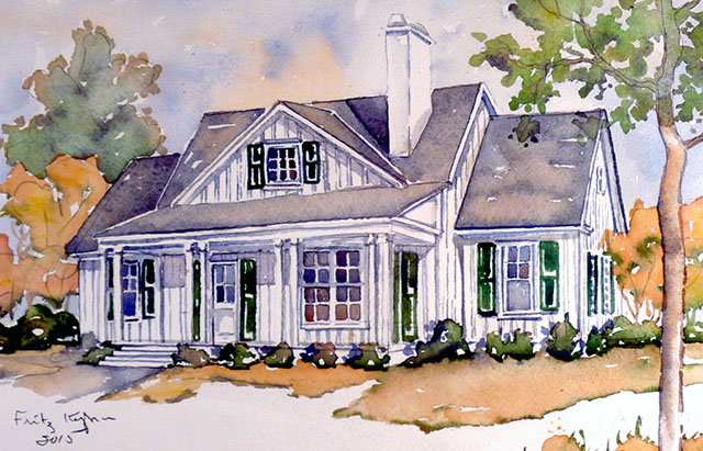 Magnolia cottage print southern living house plans - Southern living home plans with photos collection ...