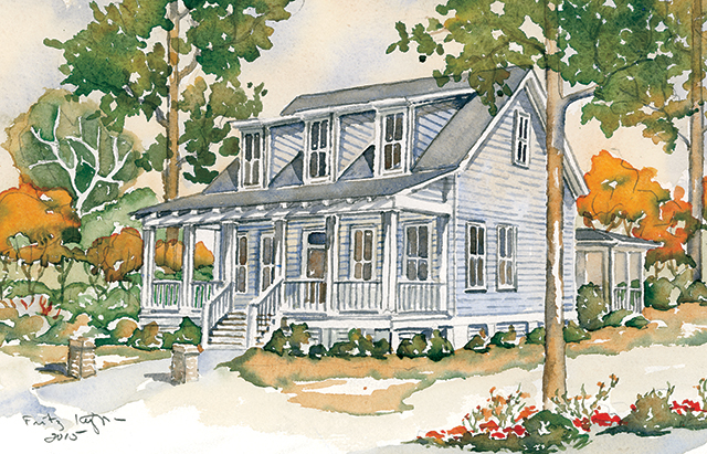 Somerset ridge southern living house plans for Low country cottage plans