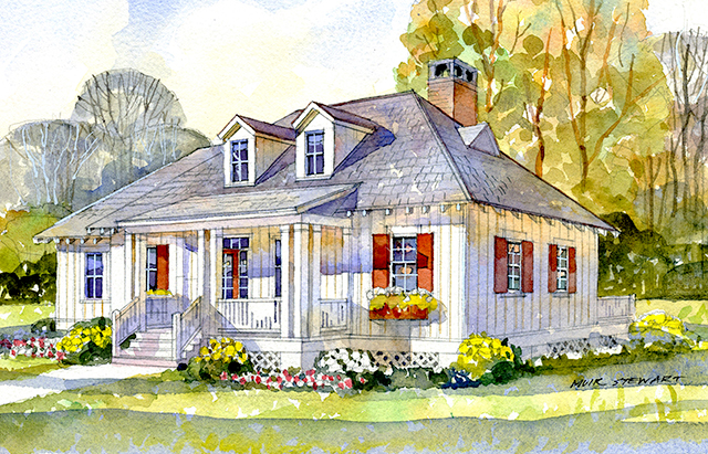 St george cottage southern living house plans for Lake house plans southern living