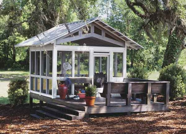 Pond house southern living house plans for House plans with gazebo porch