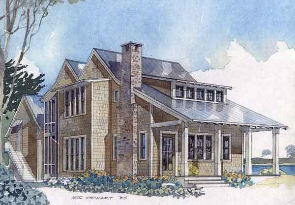 Eastern Cove Retreat Coastal Living Southern Living House Plans