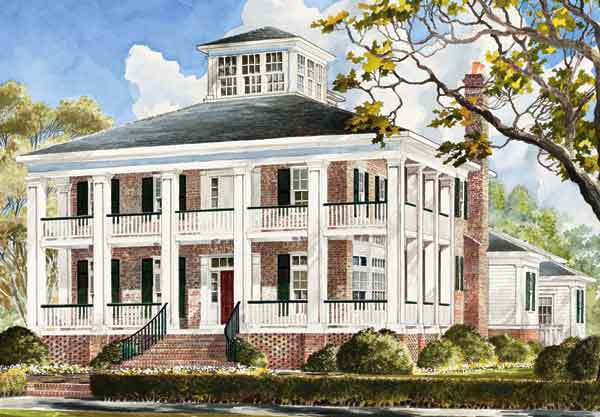 Smythe park house mitchell ginn southern living house Southern plantation house plans