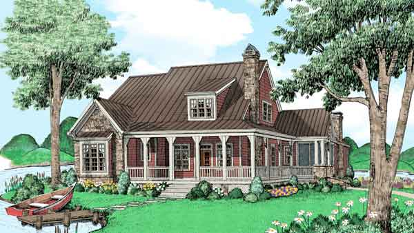 Weekend retreats house plans southern living house plans for Retreat house plans