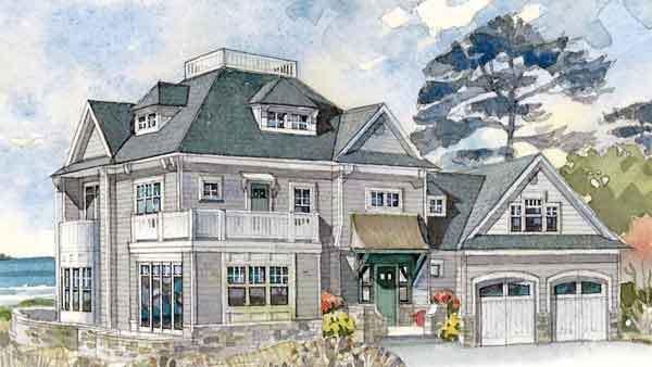 maine idea house - coastal living | southern living house plans