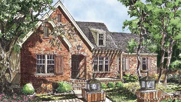sl 1660 - Brick English Home Plans