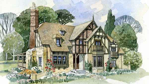 sl 1702 - English Cottage House Plans