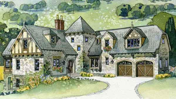 English Tudor House Plans   Southern Living House PlansSl a