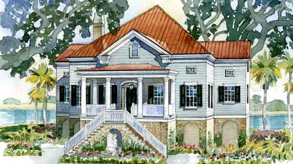 Waterfront house plans southern living house design plans for Waterfront house plans