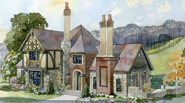 English tudor house plans southern living house plans for Historic tudor house plans
