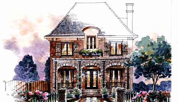 French country house plans southern living house plans for Modern french country house plans