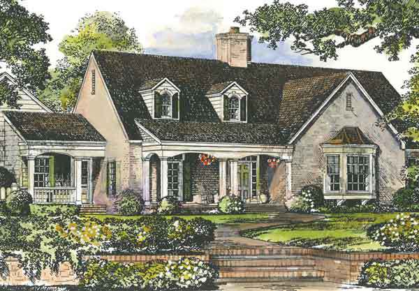 peachtree cottage - john tee, architect | southern living house plans