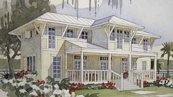 Bayside retreat coastal living southern living house plans for Coastal living house plans