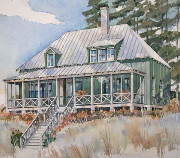 St simons retreat coastal living southern living Southern living coastal house plans