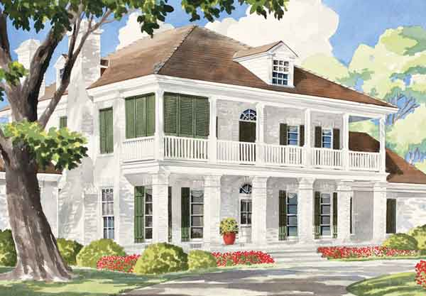 Small Colonial House Plans Southern Plantation Home Lrg