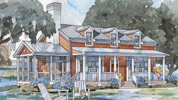 tidewater cottage - coastal living | southern living house plans