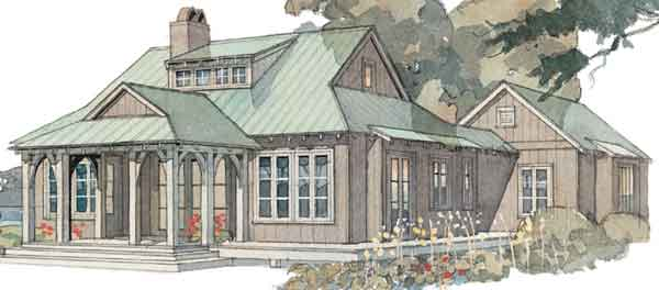 Cottage house plans southern living house plans for House plans with guest houses southern living