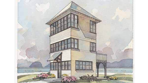 Heron 39 s nest coastal living southern living house plans for Cost effective building plans