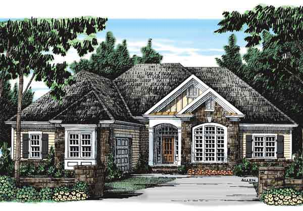 Ivy spring cottage frank betz associates inc for Southern french country house plans