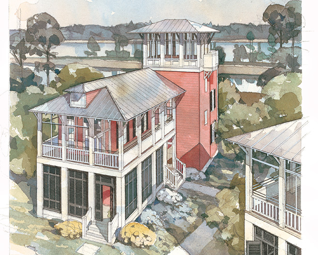 Waterview cottage coastal living southern living house for Coastal living house plans