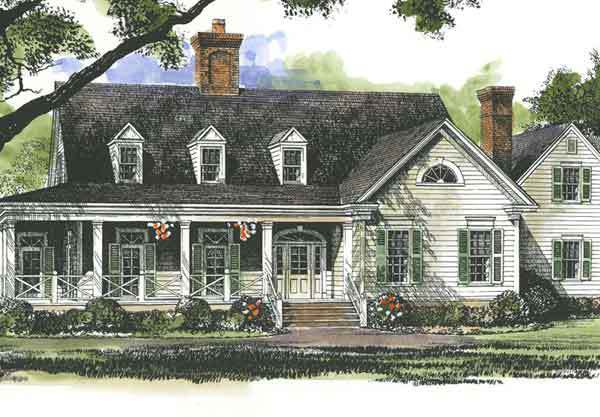 Lanier Farmhouse John Tee Architect Southern Living House Plans
