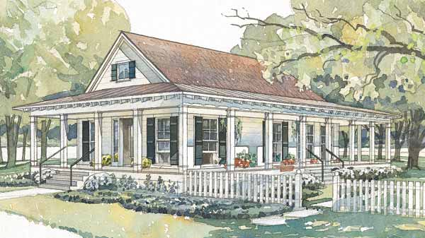 Tidewater low country house plans southern living house for Tidewater home designs