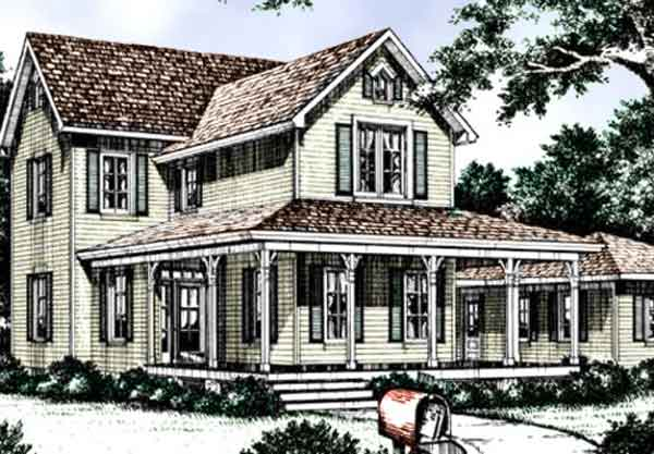 sl 720 - Gothic Revival Farmhouse Plans