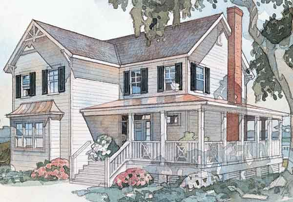 sl 750 - 2 Story Country House Plans