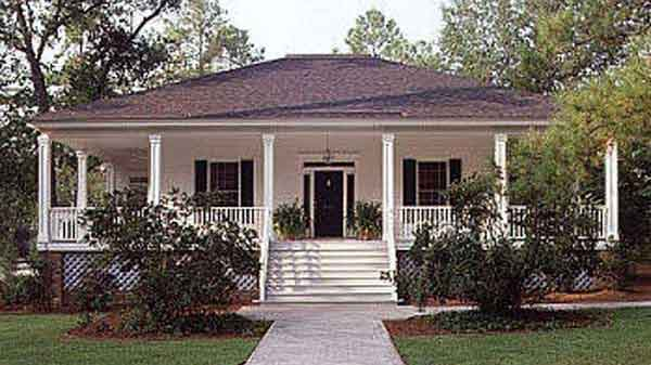 Southern Living House Plans   tidewater low country House PlansSl