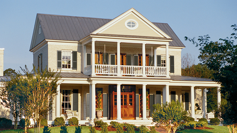 Colonial on Southern Plantation Home Plans