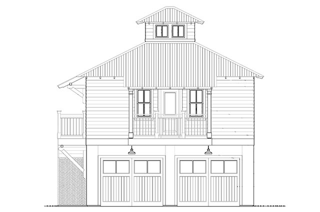 Merveilleux Bayou Bend Carriage HousePlan SL 1751