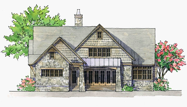 Southern living house plans arts and crafts house plans for Arts and crafts style home plans